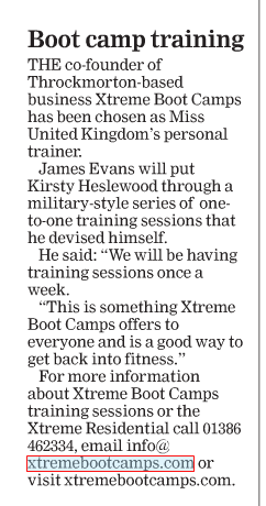 Xtreme boot camps Miss United Kingdom