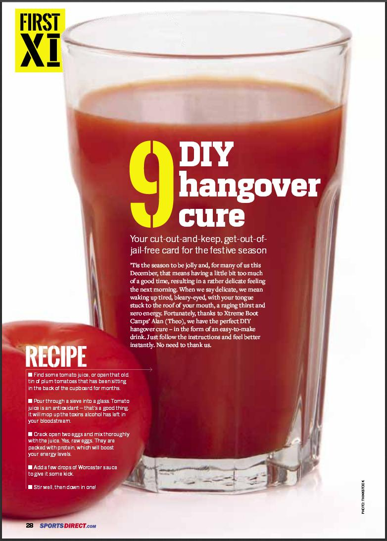 Xtreme Boot Camp's Christmas Hangover Cure